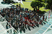 People start queuing to audition for next seasons XFactor at the AUT campus on October 11 2014 in Auckland New Zealand