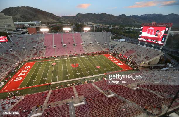 People start to file into Rice Eccles Stadium before the start of an college football game against the Utah Utes and Stanford Cardinal on October 7...