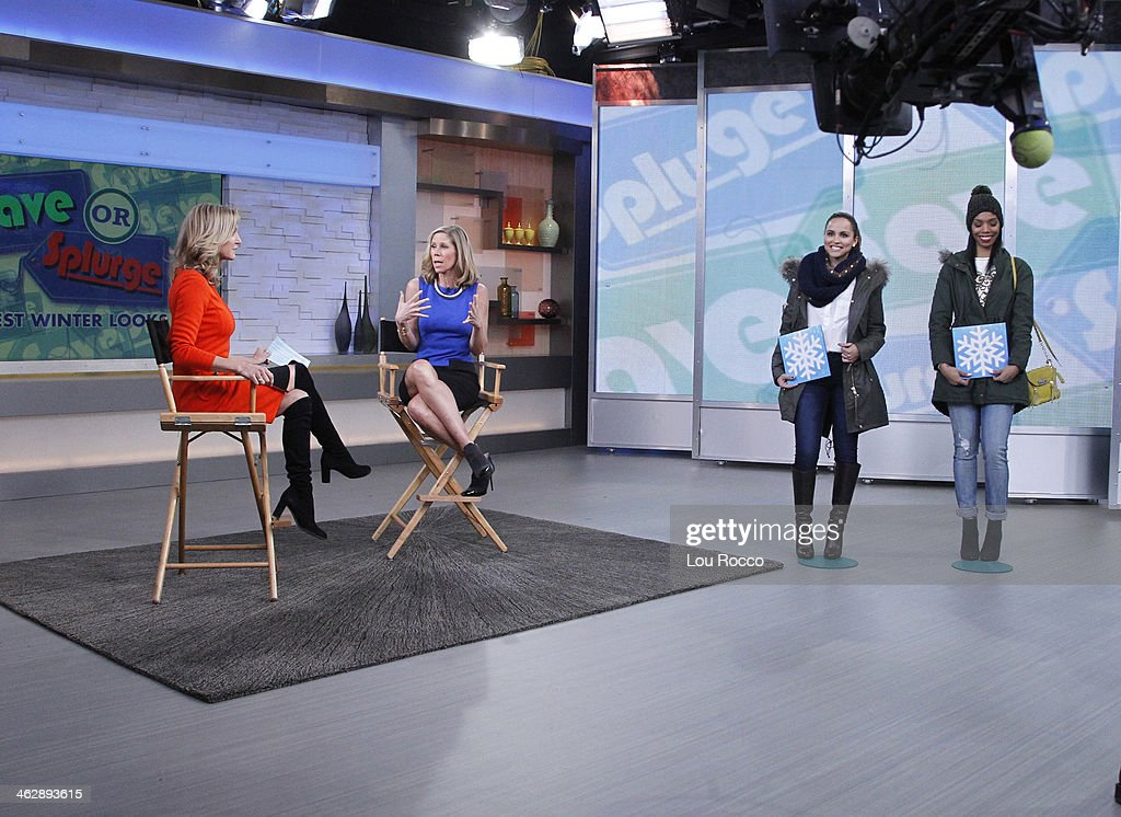 AMERICA - People StyleWatchs Kate Dimmock shares the hottest winter looks on 'Good Morning America,' 1/15/13, airing on the ABC Television Network. DIMMOCK, MODELS