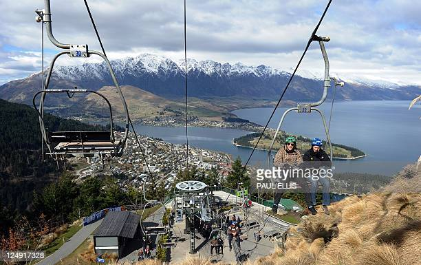 People take a lift to the luge track on Ben Lomond mountain in Queenstown New Zealand on September 14 2011 AFP PHOTO PAUL ELLIS