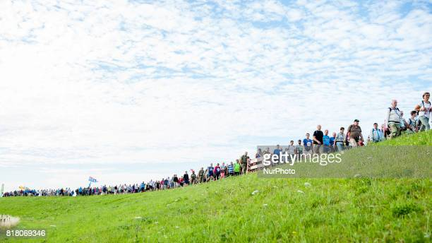 People take part at annual International Four Days Marches in Nijmegen Netherlands on 18th July 2017 Since it is the worlds biggest multiday walking...