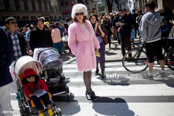 People take part in the Easter Parade and Bonnet Festival along 5th Avenue in New York The parade is a New York tradition dating back to the mid1800s...