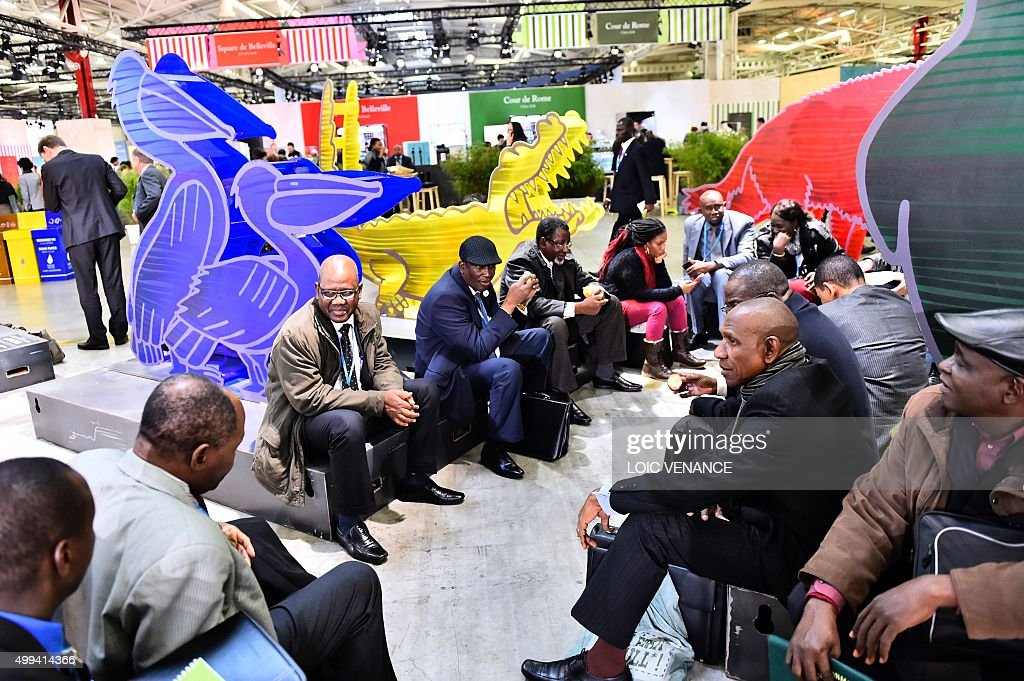 People take part in the United Nations conference on climate change COP21, on December 1, 2015