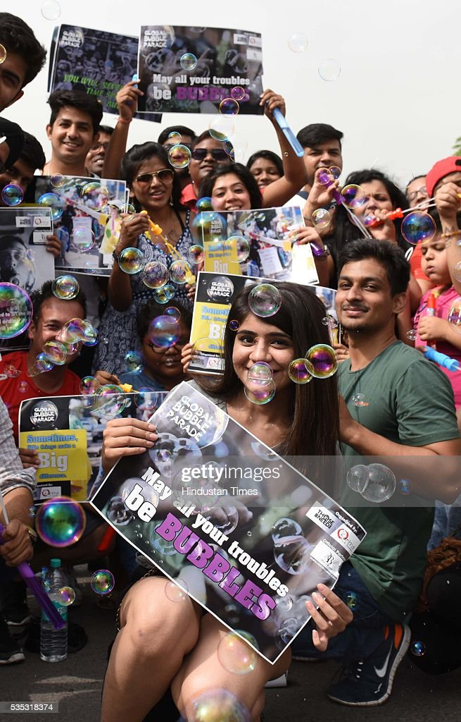 People take part in various activities and enjoy on the Raahgiri Day and to mark the No Tobacco Day at Connaught Place, on May 29, 2016 in New Delhi, India. Raahgiri Day, known across the world as Ciclovia or Open Streets, will give an opportunity to citizens to reclaim their streets and enjoy recreational activities which promote health, well being, fitness, togetherness and joy.