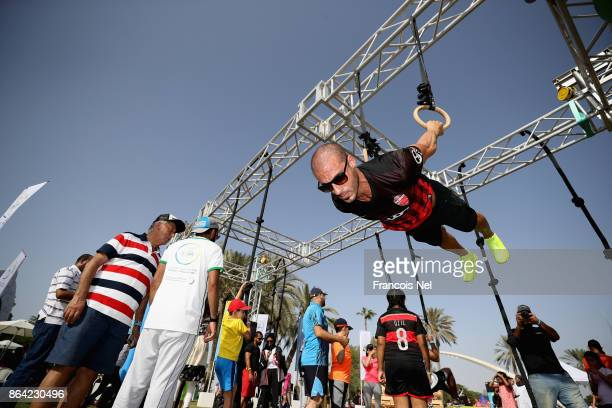 People takes part during the Dubai Fitness Challenge Opening Carnival at Safa Park on October 20 2017 in Dubai United Arab Emirates The inaugural...