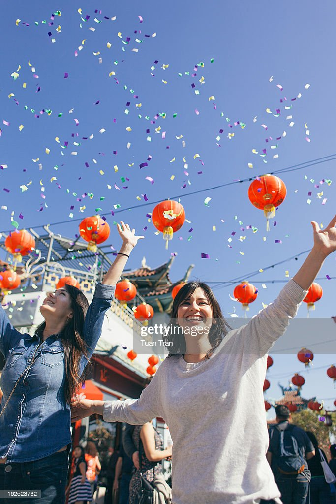 People taking part in Chinese New Year Celebration