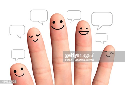 People talk in speech bubbles, isolated with clipping paths. : Stock Photo