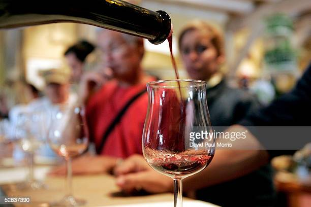People taste wine at the Vianasa Winery May 16 2005 in Napa Valley California The Supreme court voted to stop the ban on interstate wine sales...