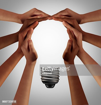 People Thinking Together : Stock Photo
