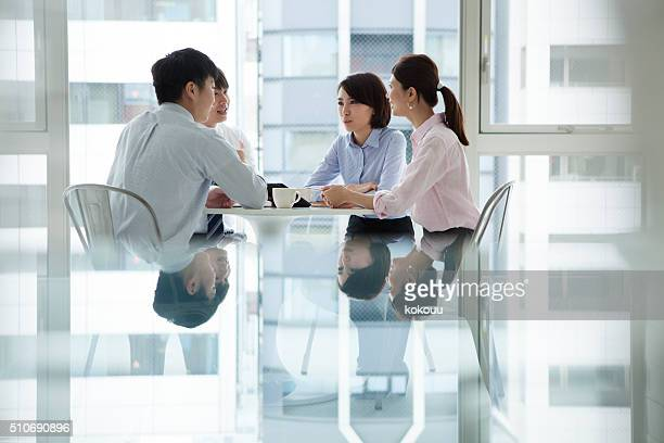 People to a meeting in the office