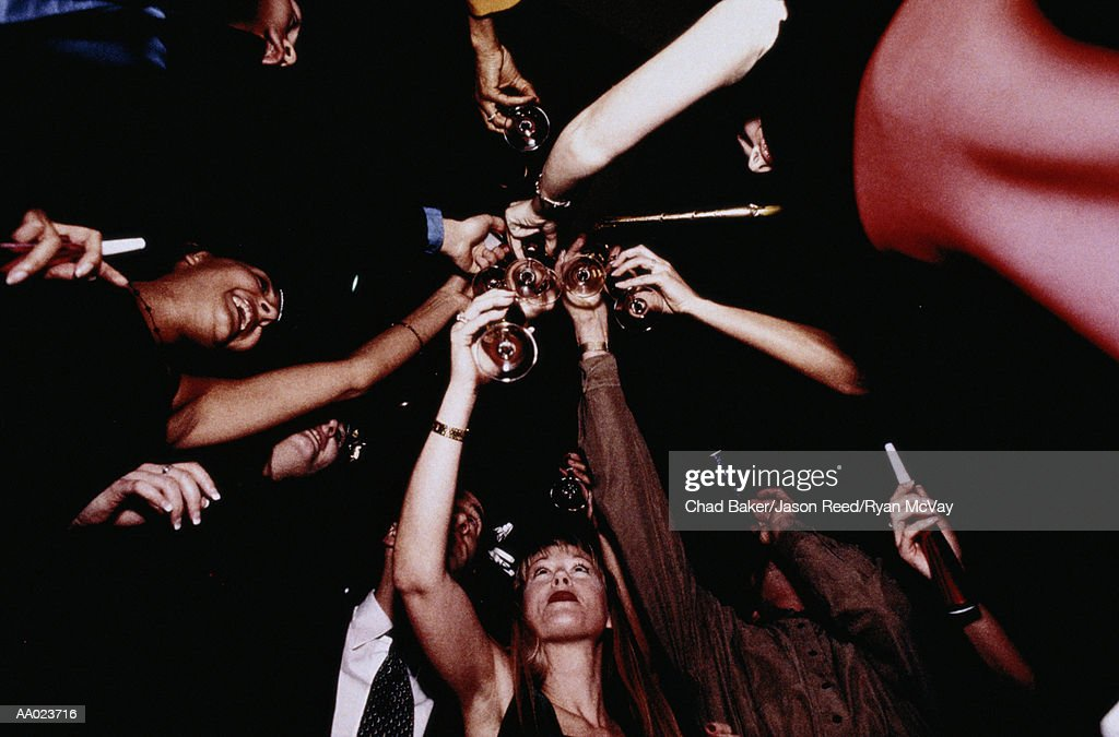 People Toasting at a Party : Stock Photo