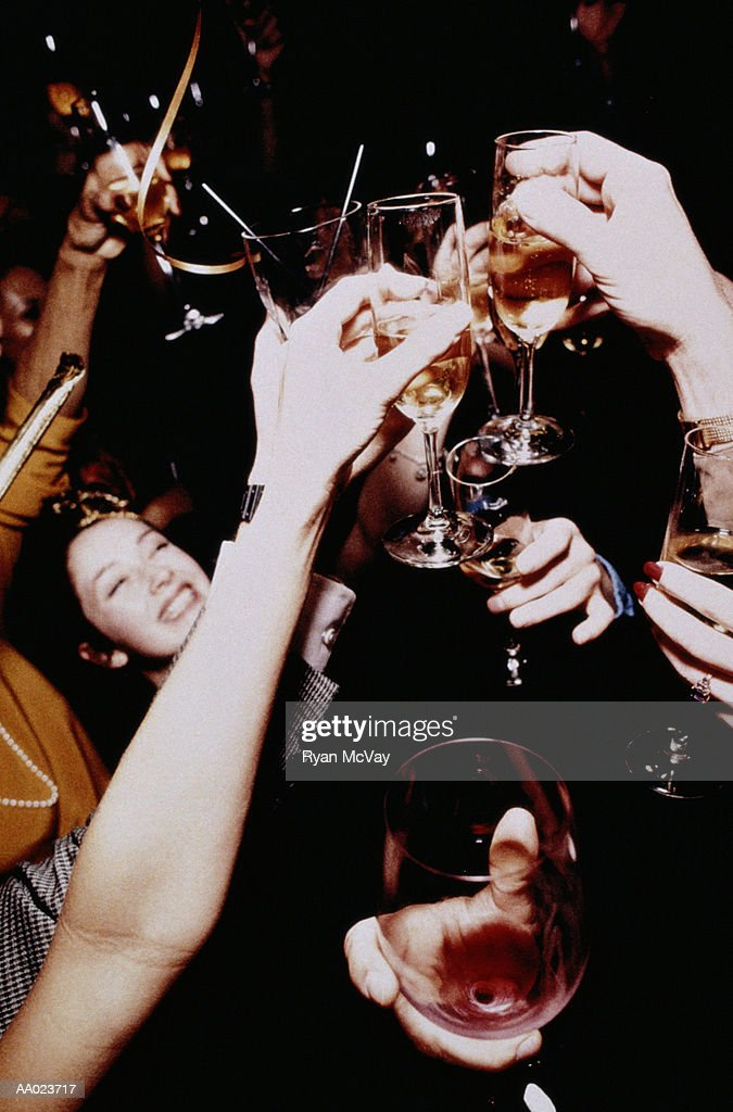 People toasting at party : Stock Photo