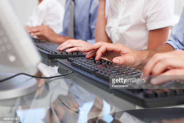 People typing