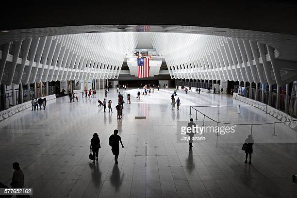 People Under the Oculus, World Trade Transportation Hub, Manhattan, NYC