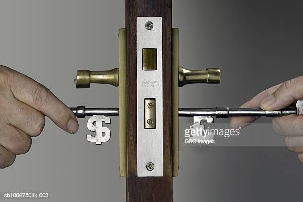People On Sides Of Door : Hand on doorknob stock photos and pictures getty images