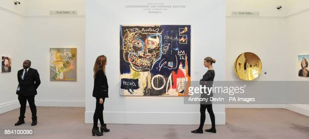 People view Jean Michel's Basquiat's Untitled as SothebyOtildes previews its forthcoming February sales of Impressionist Modern Art and Contemporary...