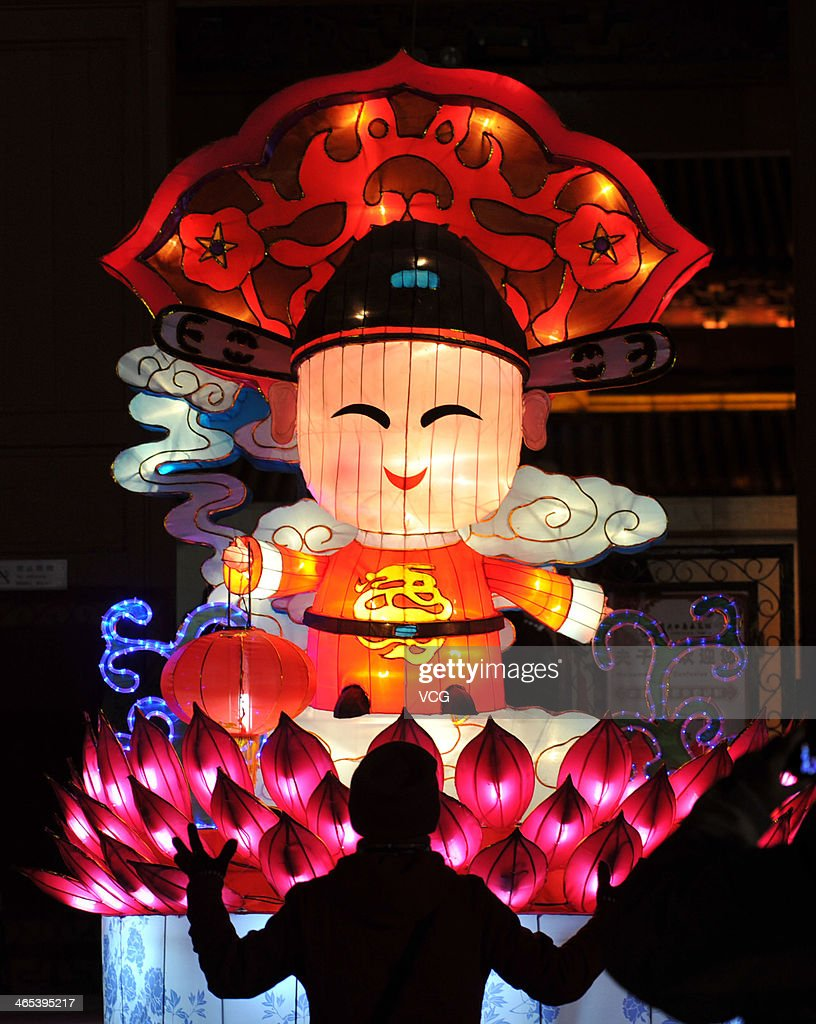 People view the lanterns during a lantern show at Confucius Temple on January 26, 2014 in Nanjing, China. Chinese people are preparing for the Spring Festival, the year of horse, which will fall on January 31 according to Chinese calendar.