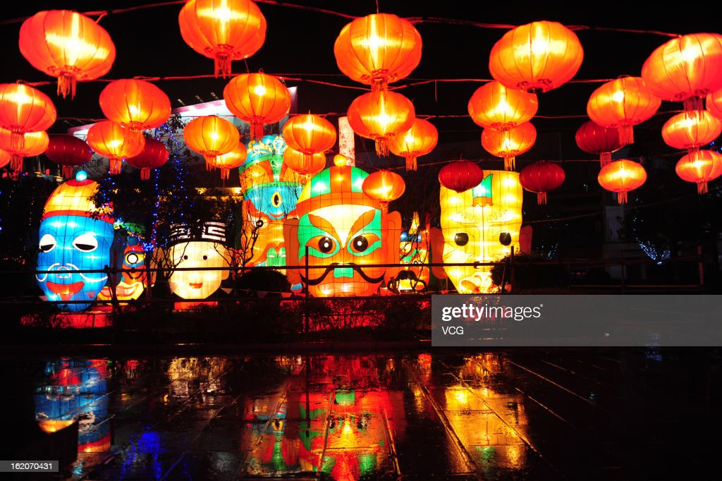 People visit a lantern show to celebrate the Spring Festival on February 18, 2013 in Zhangjiajie, China. The Chinese Lunar New Year also known as the Spring Festival, which is based on the Lunisolar Chinese calendar, is celebrated from the first day of the first month of the lunar year and ends with Lantern Festival on the Fifteenth day. 2013 is the Year of the Snake according the 12-year cycle of animals which appear in the Chinese Zodiac.