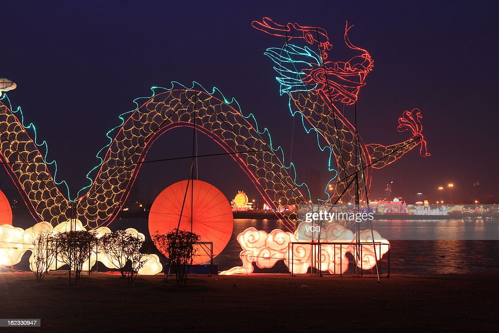 People visit a lantern show to celebrate the Spring Festival on February 21, 2013 in Rizhao, China. The Chinese Lunar New Year of Snake also known as the Spring Festival, which is based on the Lunisolar Chinese calendar, is celebrated from the first day of the first month of the lunar year and ends with Lantern Festival on the Fifteenth day.