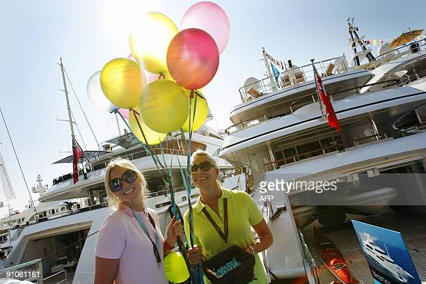 People visit on September 23 2009 the International Monaco Yacht Show exclusively devoted to Superyachts of at least 25 meters in length in Monaco...