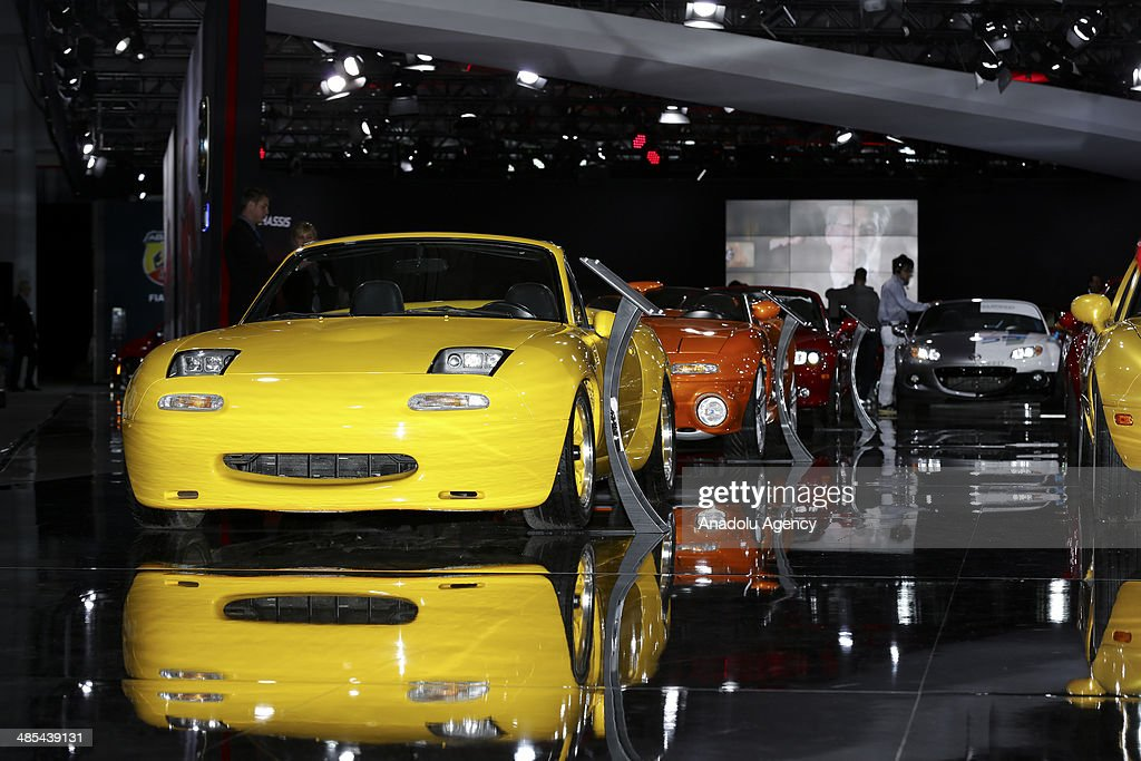 People visit the 2014 New York International Auto Show at the Jacob Javits Center New York, United States on April 17, 2014.