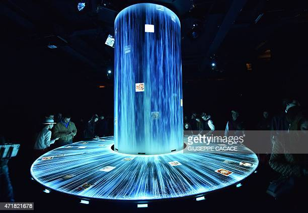 People visit the Japan pavillion of the Universal Exposition EXPO2015 on May 1 2015 in Milan Milan's EXPO2015 opens on May 1 with hopes that the six...