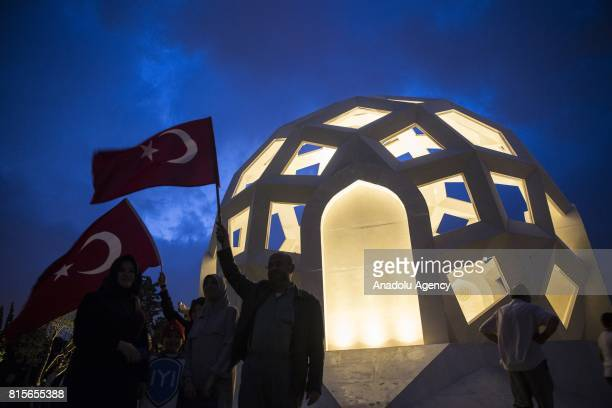 People visit the 'July 15 Martyrs' Memorial' at 15 July Martyrs Bridge during the July 15 Democracy and National Unity Day's events held to mark July...