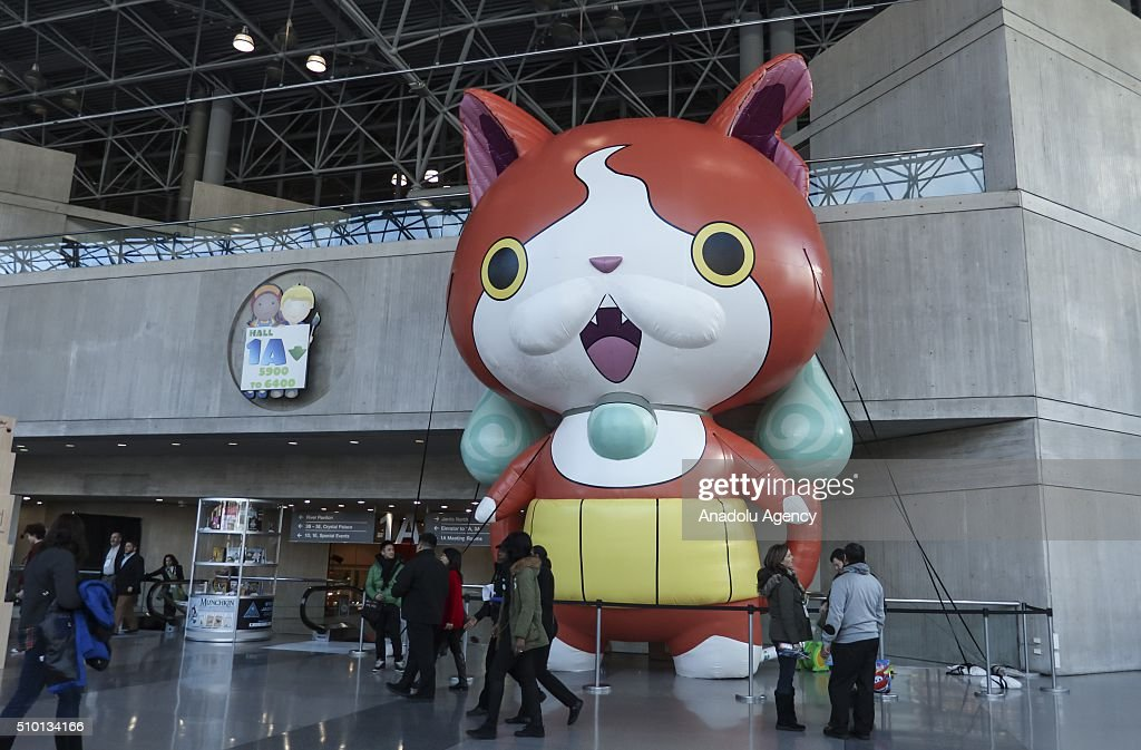 People visit the New York's Javits Center on February 13, 2016, during the 113rd Annual American International Toy Fair New York 2016 starting on February 13 and ending on February 16. More than 200 companies from 100 countries have opened stands in the fair.