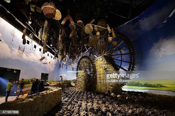 People visit the pavilion Zero of the UN at the Universal Exposition EXPO2015 in Milan on May 2 2015 The opening of EXPO2O15 was marred on May 1 by...