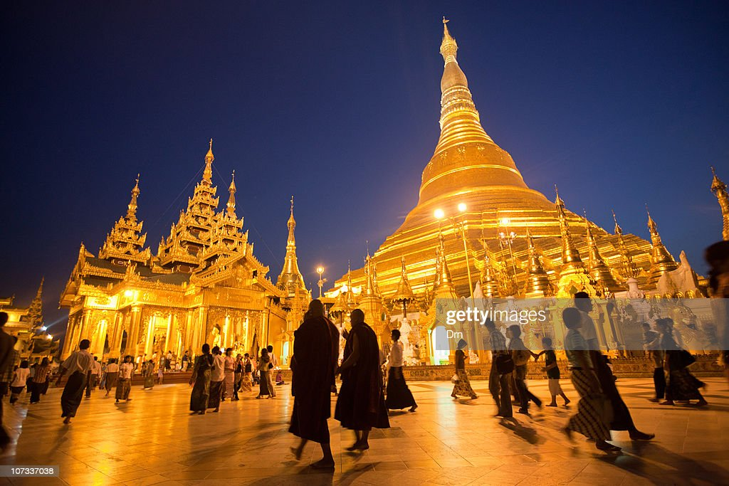 People visit the Shwedagon Paya on December 05, 2010 in Yangon, Myanmar. Myanmar last month saw the release of opposition leader Aung San Suu Kyi after seven years of house arrest.
