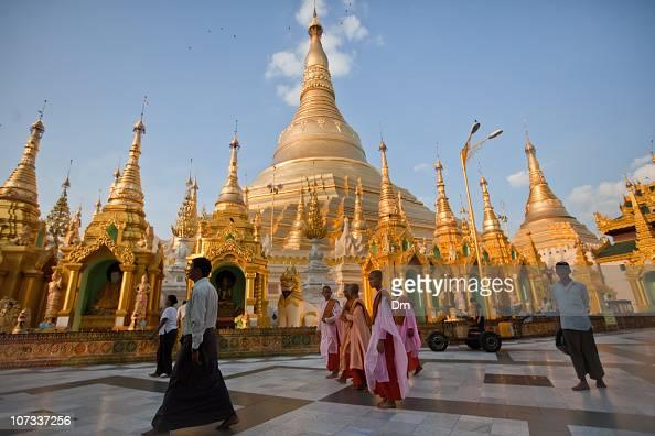 People visit the Shwedagon Paya on December 05 2010 in Yangon Myanmar Myanmar last month saw the release of opposition leader Aung San Suu Kyi after...