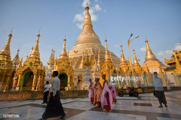 People visit the Shwedagon Paya on December 05 2010 in Yangon Myanmar Myanmar last month saw the release of opposition leader Aung San Suu Kyi after...