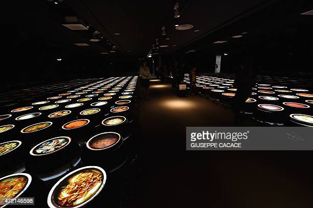 People visit the South Korea pavilion at the Universal Exposition EXPO2015 in Milan on May 4 2015 AFP PHOTO / GIUSEPPE CACACE
