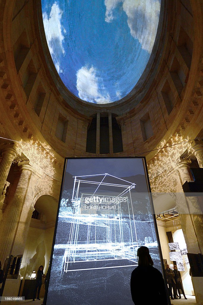 People visit the virtual exhibition 'The Treasury of Marseille' (500