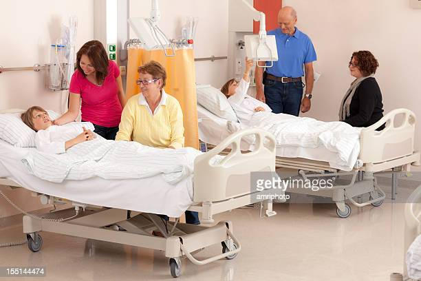 人の来場時間帯の病院