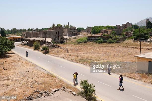 People visiting Quneitra, Syria