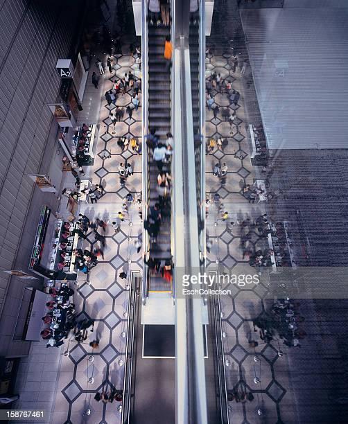 People visiting trade fair at Coex Center, Seoul