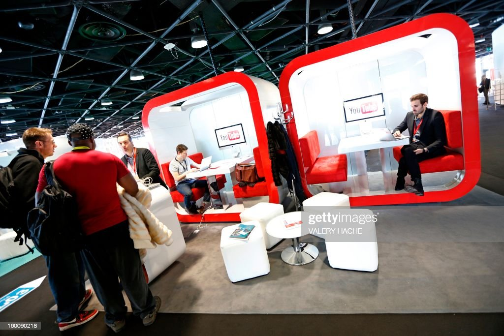 People visits the music world's largest annual trade fair, MIDEM on January 26, 2013 at the Palais des Festivals, in Cannes, southeastern France. The MIDEM music trade show will bring 7,000 of the global industry's biggest players together on the French Riviera for four days.