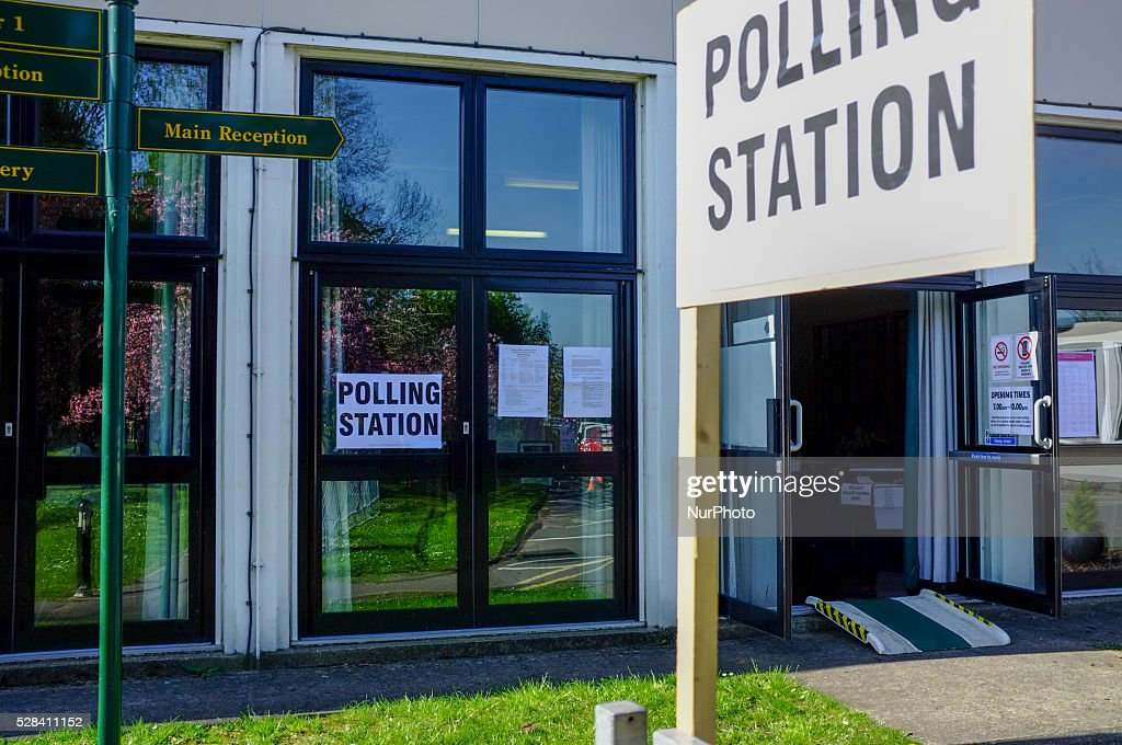 People vote at Polling Station in London, on May 5, 2016. Voting stations open in London and the rest of the UK for voters to decide the London mayor and local counselors. England local elections across 124 councils including unitary authorities, District Councils and Metropolitan boroughs. Bristol, Liverpool, London and Salford also hold mayoral elections. Labour leader Jeremy Corbyn reportedly faces a leadership challenge if the party loses over 200 seats * Also today are Scottish Parliament, Welsh Assembly, Northern Ireland Assembly, London Assembly, and Police and Crime Commissioner elections.