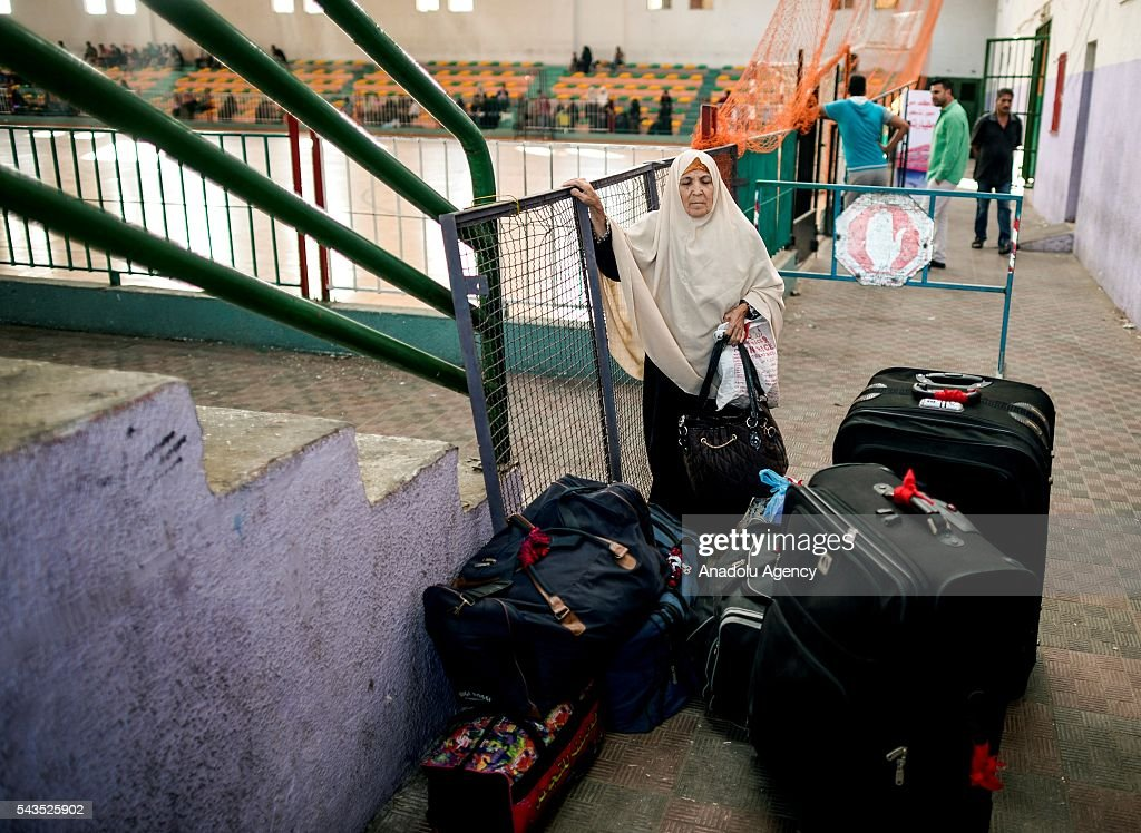 People wait at the Rafah border gate, which is Gaza's only access to the outside world, after Egyptian authorities temporarily reopened it both directions in Gaza Strip, Gaza on June 29, 2016. Students, patients, people with residence permit and passport owners are allowed to cross to border.
