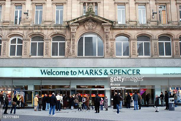 People waiting for Marks & Spencer shop to open