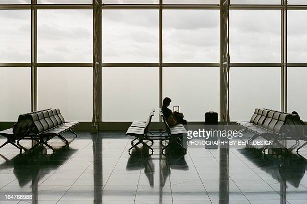 People Waiting in Airport