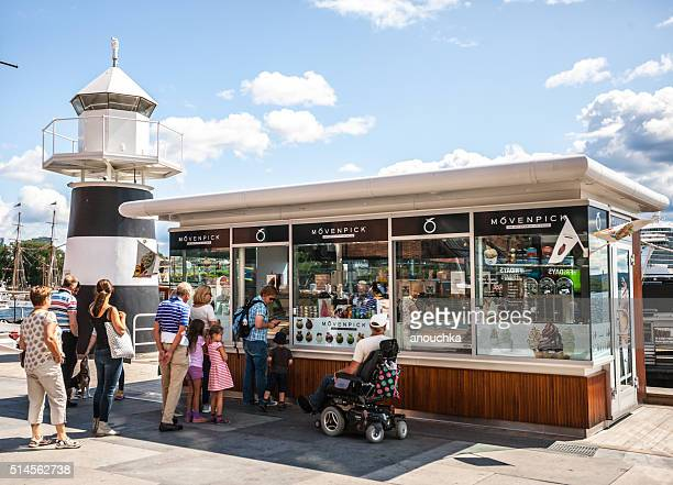 People waiting in line to buy Ice-cream, Oslo