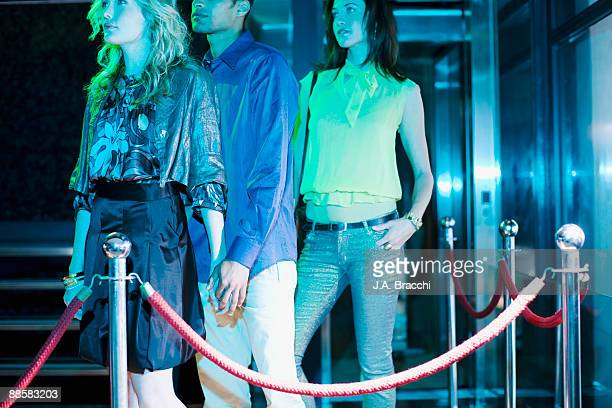 People waiting to get into nightclub
