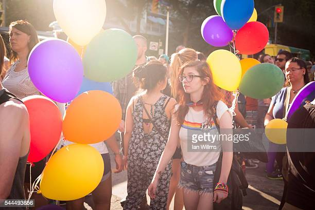 People walk along Church Street after the the annual Gay Pride Festival on July 3 2016 in Toronto Ontario Canada Justin Trudeau made history as the...