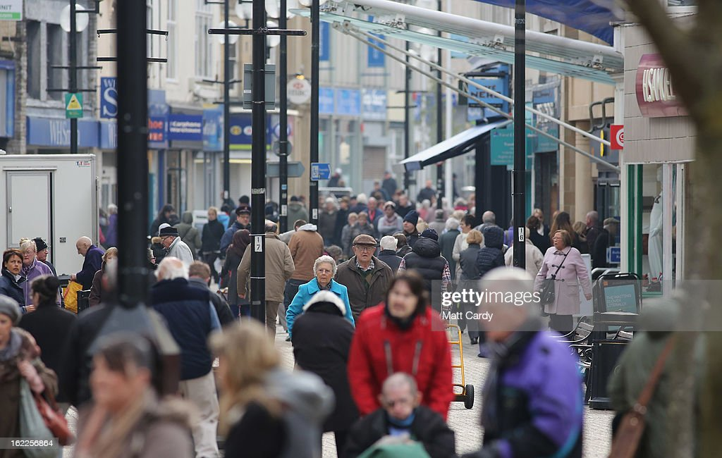 People walk along the high street on February 21, 2013 in Weston-Super-Mare, England. According to recently released figures by the Ministry Of Justice, Weston-super-Mare has the highest rate of divorce in the UK.