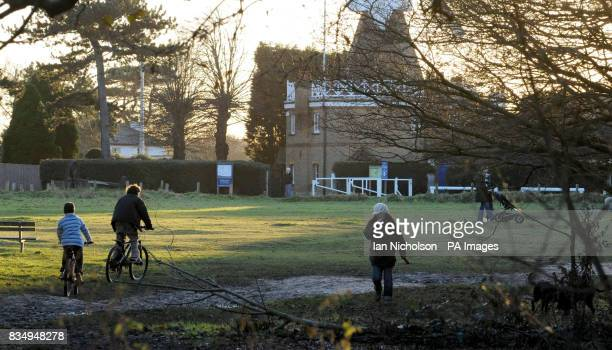 People walk and cycle across Wimbledon Common in London close to the place where former model and young mother Rachel Nickell was murdered on July 15...