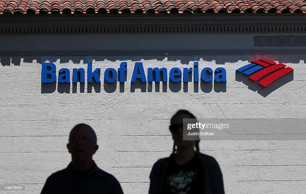 People walk by a Bank of America branch office on July 18, 2012 in San Anselmo, California. Bank of America reported second quarter net income of $2.5 billion, or 19 cents per share comapred to a loss of $8.8 billion, or 90 cents per share one year ago.