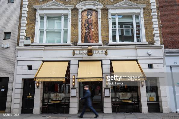 People walk by a Fischer's restaurant in Marylebone on February 16 2017 in London England The Association for Licensed Multiple Retailers have...