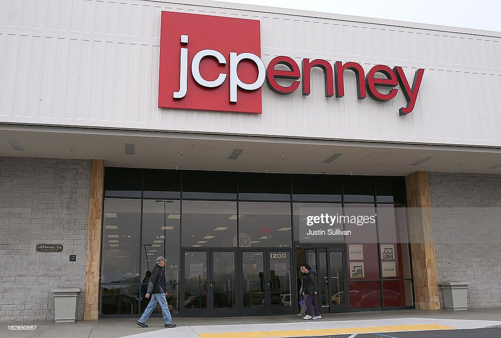 People walk by a JCPenney store on February 28, 2013 in Daly City, California. J.C. Penney Co. reported a 31.7 percent drop in fourth quarter earnings with a net loss of $552 million, or $2.51 per share compared with a loss of $87 million, or $0.41 one year ago.